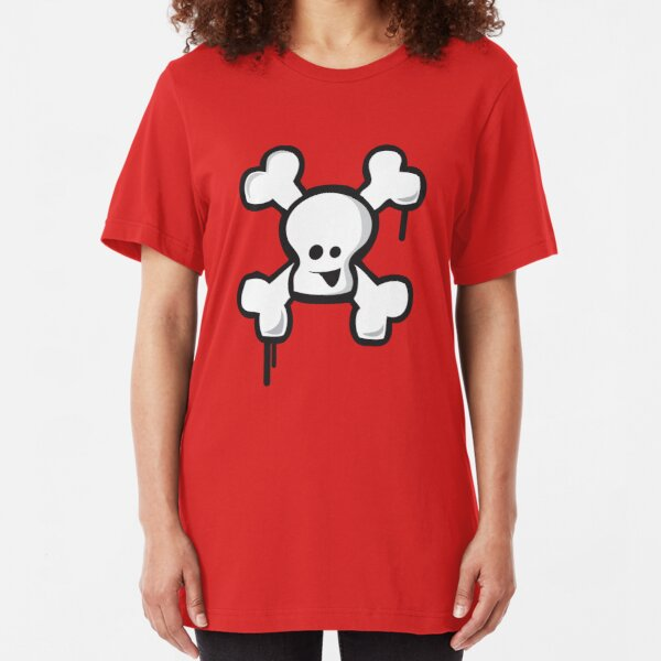 Happy Skull! Slim Fit T-Shirt