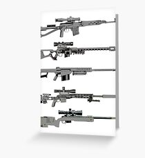 Sniper Rifles Greeting Card