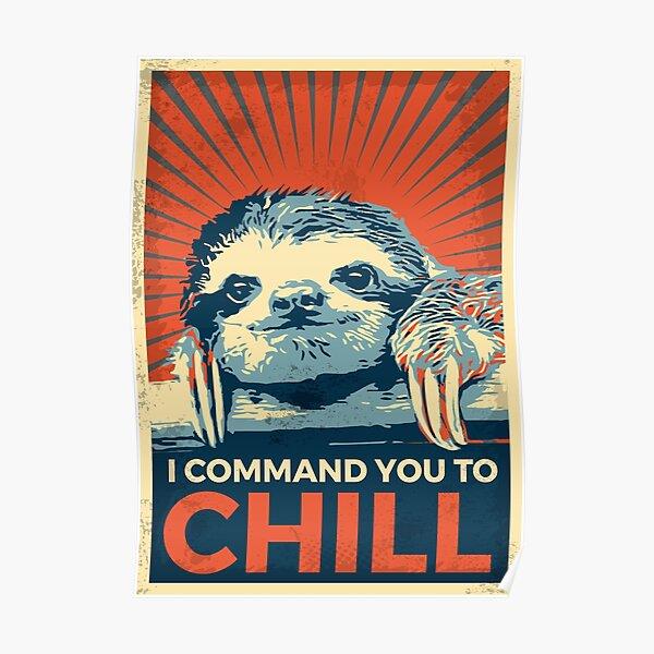 Sloth Vintage Poster Poster