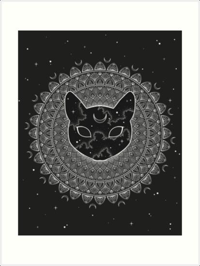 «Cosmic Cat Mandala» de typelab