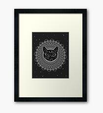 Lámina enmarcada Cosmic Cat Mandala