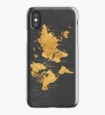 Gold World Map iPhone Case/Skin