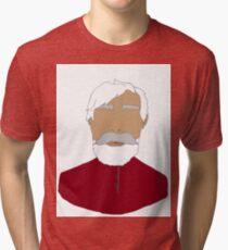 Hipster Santa Tri-blend T-Shirt