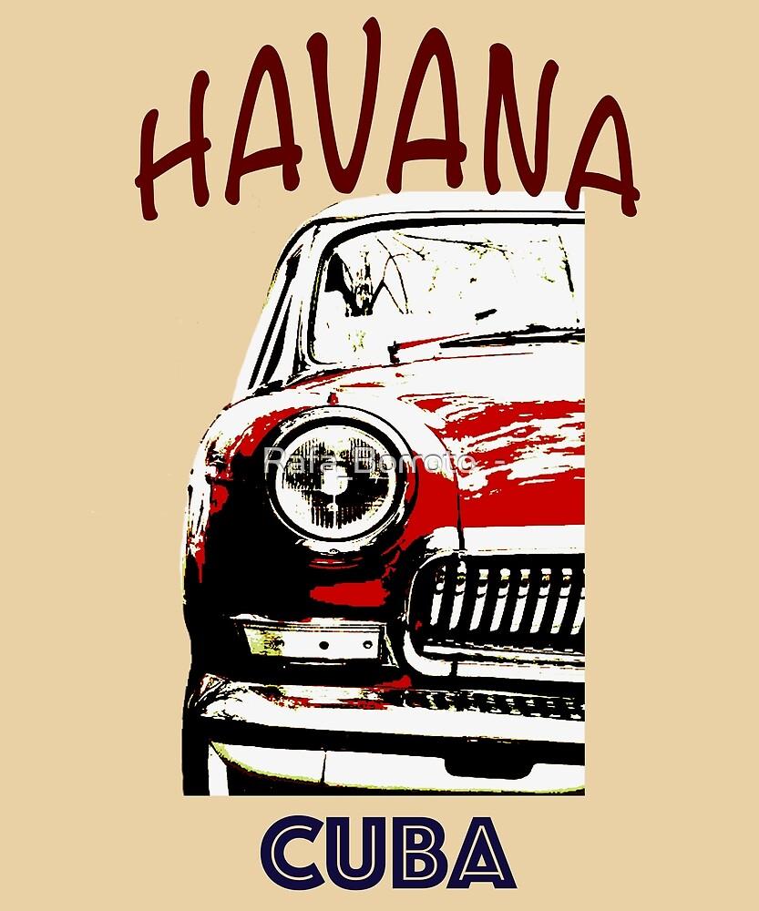 American Classic Car in Havana Cuba Art. Cuban t Shirt. Classic car ...