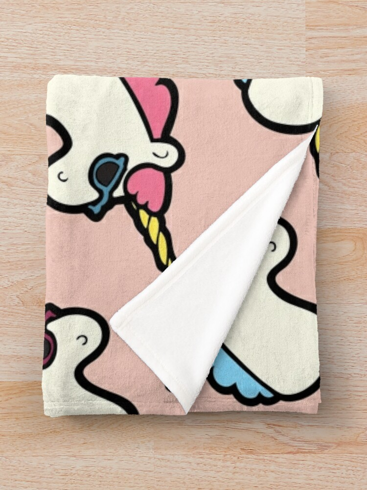 Alternate view of Unicorns Are Cool Pattern - Multi Throw Blanket