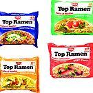 Top ramen 4 stickers by eddycasanta