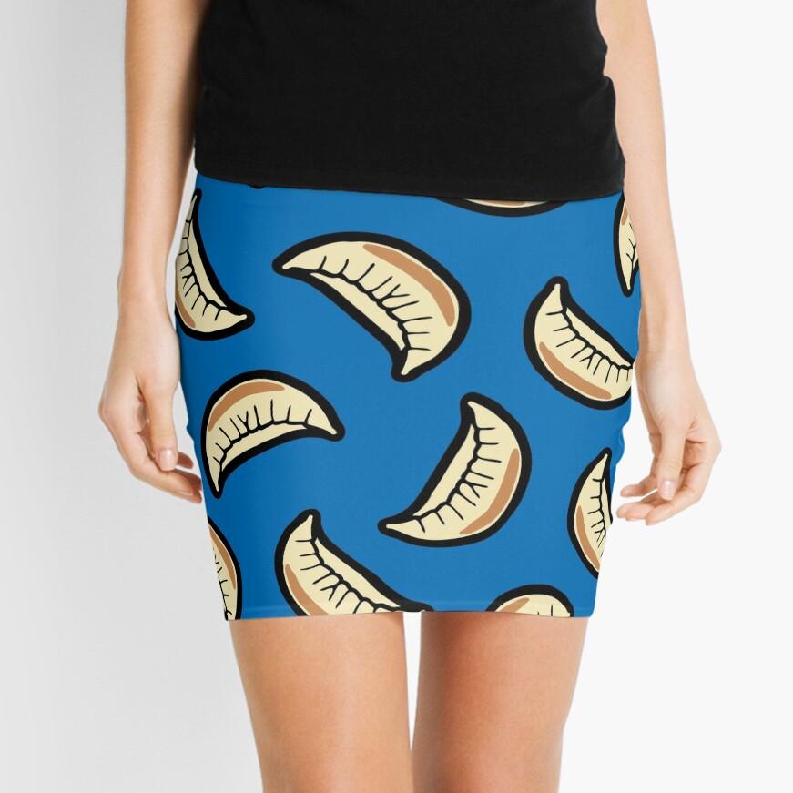 Gyoza Dumpling Pattern Mini Skirt