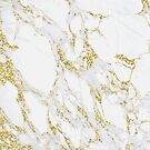 White Italian Carrara Marble Gold Glitter Sparkly Gray Glam Abstract Glam Gipsy  by florenceKdesign