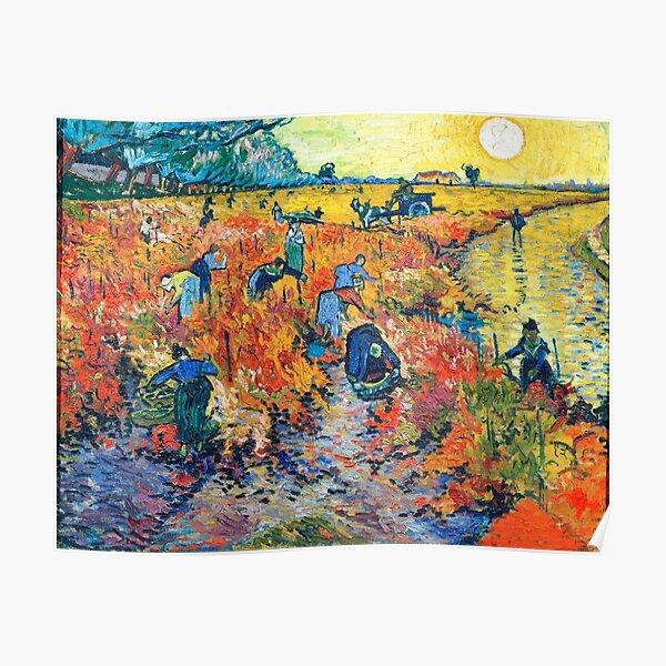 Vincent Van Gogh - Le vignoble rouge. Poster