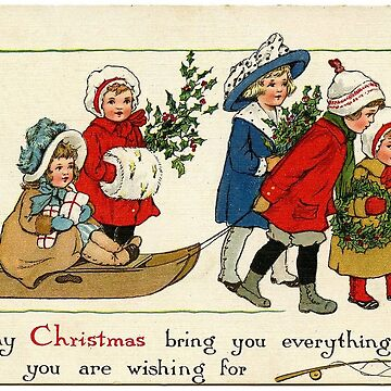 vintage christmas card by HelenCat