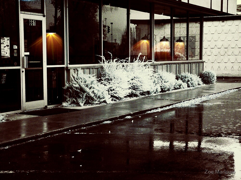 Diner In The Rain (Infrared Version) by Zoe Marlowe