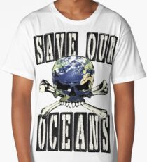 SAVE OUR OCEANS Long T-Shirt