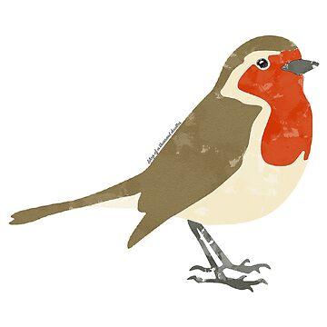 Robin Redbreast Watercolour by EloisaRelish