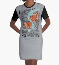 Under the Sea Graphic T-Shirt Dress