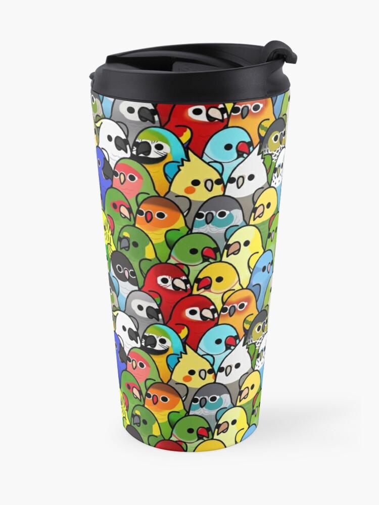 Alternate view of Too Many Birds! Bird Squad Classic Travel Mug