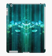 Fantasy Eyes - Modern Blue Futuristic Design iPad Case/Skin