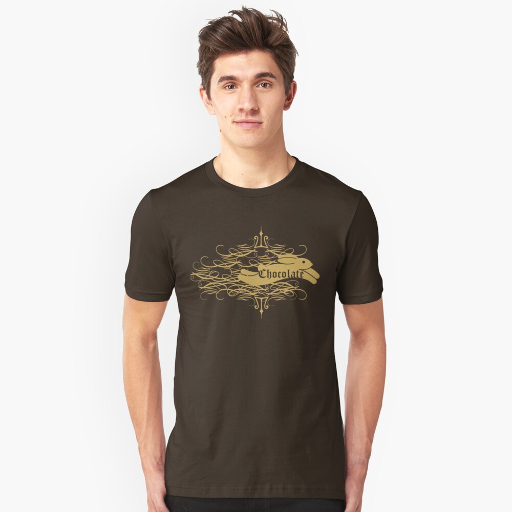 chocolate bunny Unisex T-Shirt Front