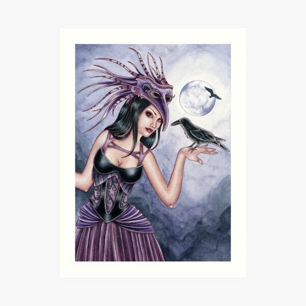 Rayne - Raven Witch Art Print