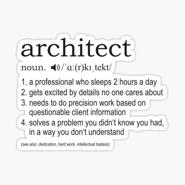 Architect - Definition Sticker