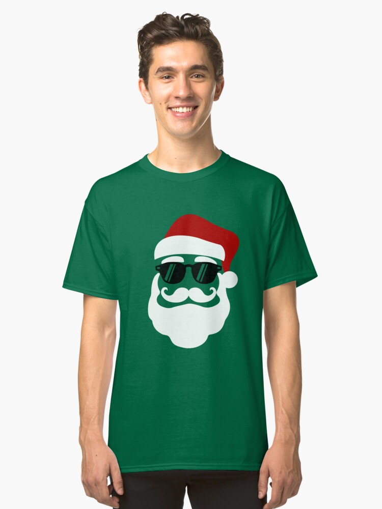 Hipster Santa Claus With Sunglasses Funny Gift for Christmas ...