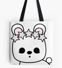 Cute Pet Bunny Rabbit Blanc de Hotot with Star Crown Tote Bag