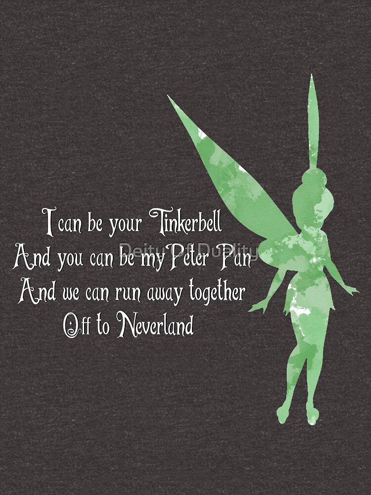 I can be your tinkerbell quote watercolour unisex t shirt by i can be your tinkerbell quote watercolour by eloisarelish voltagebd Choice Image
