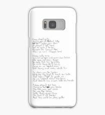 Ziggy Stardust lyrics (black) Samsung Galaxy Case/Skin