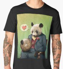 Wise Panda: Love Makes the World Go Around! Men's Premium T-Shirt