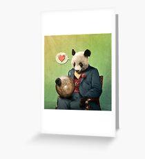 Wise Panda: Love Makes the World Go Around! Greeting Card