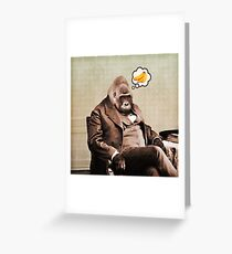 Gorilla Meine Träume Grußkarte