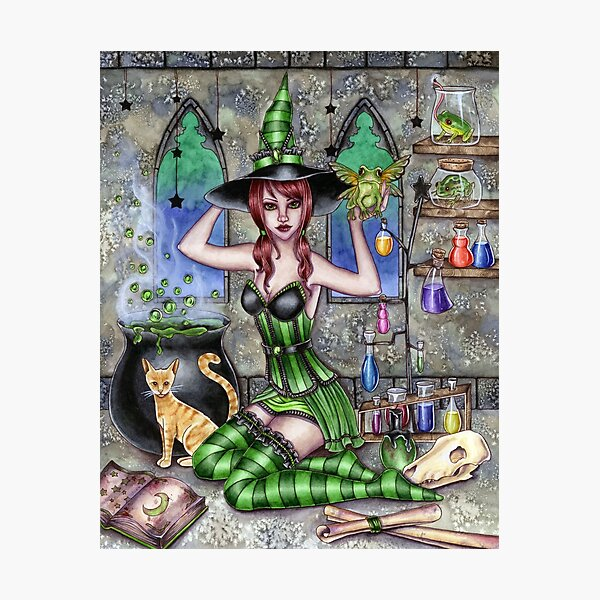 Ashlyn - Potion Witch Photographic Print