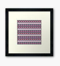 Winter Pixel Design. Tribal Fashion Pattern. Framed Print