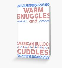 American Bulldog Christmas Sweater Greeting Card