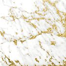 Gold Glitter Gipsy Strokes White Gray Carrara Marble Glam Delicate Elegant Chic Urban Contemporary  by florenceKdesign