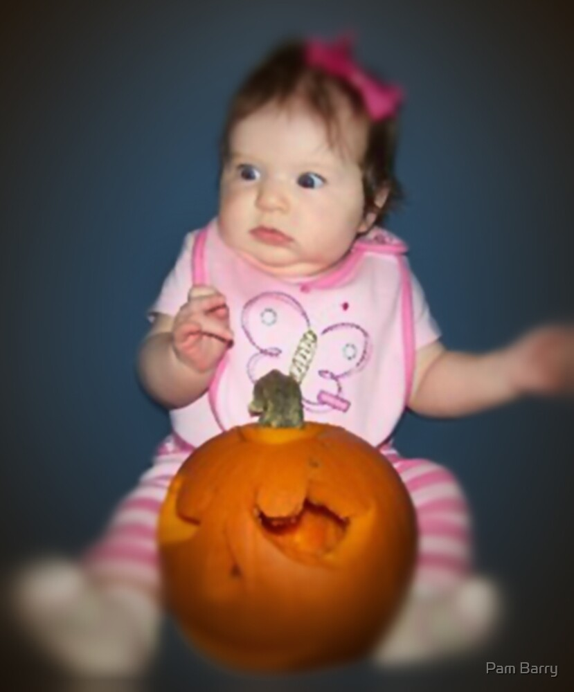 Laney Afraid Of Her Pumpkin by Pam Barry