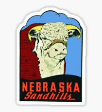 Nebraska Sandhills vintage car decal USA Sticker