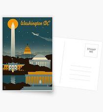 Washington DC Retro Poster Postkarten
