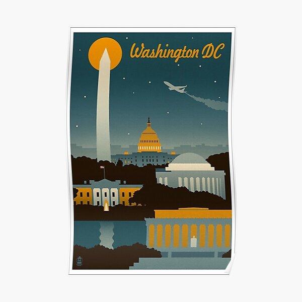 Washington DC Retro Poster  Poster