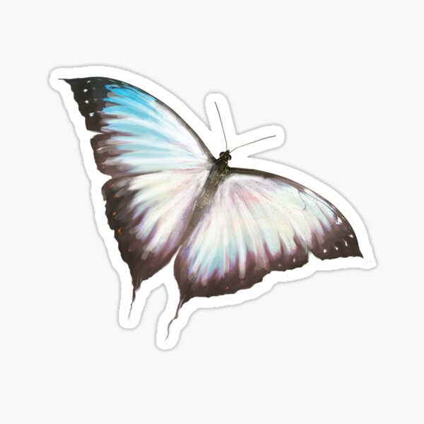 Color Changing Butterfly Sticker