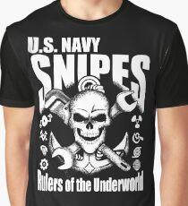 United States Navy Pit Snipes Design Grafik T-Shirt