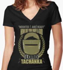 Lord Tachanka Women's Fitted V-Neck T-Shirt