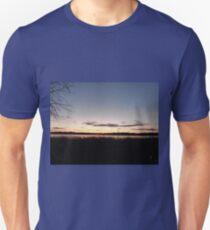 Sunset Over The Serene Frozen Lake T-Shirt