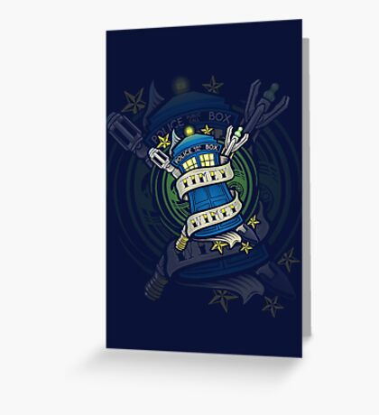 Timey Wimey (iphone case2) Greeting Card