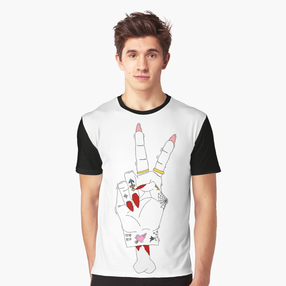 Peace, love and tattoos Graphic T-Shirt