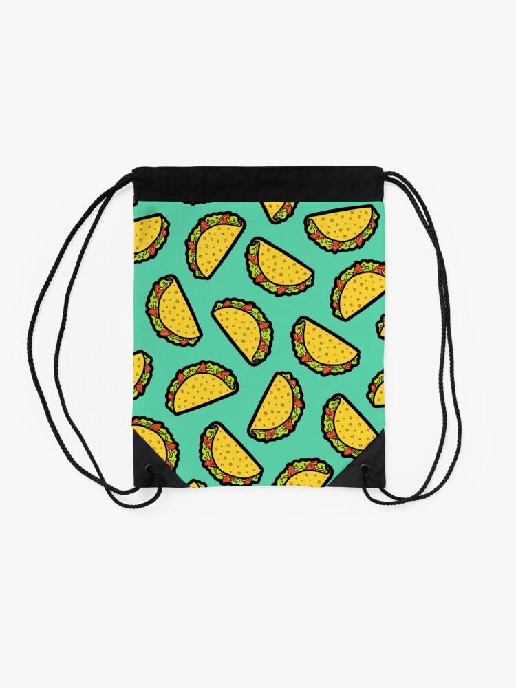 Alternate view of It's Taco Time! Drawstring Bag