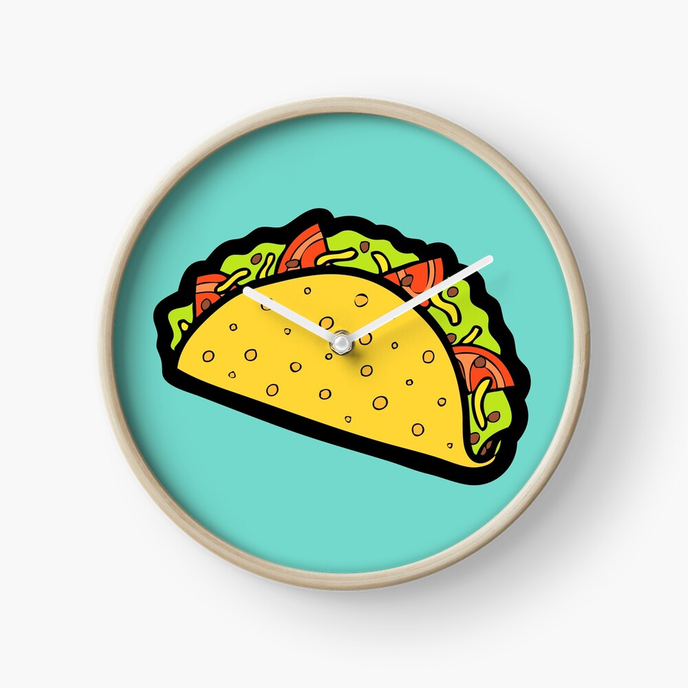 It's Taco Time! Clock