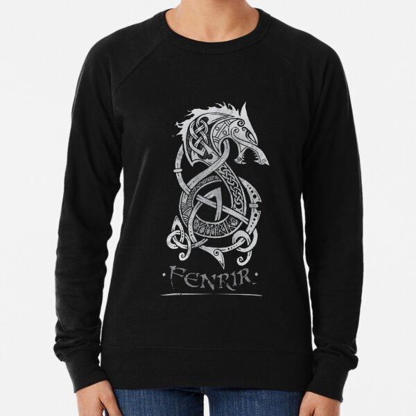 Fenrir: The Monster Wolf of Norse Mythology (Gray) Lightweight Sweatshirt