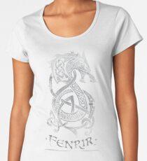 Fenrir: The Monster Wolf of Norse Mythology (Gray) Women's Premium T-Shirt