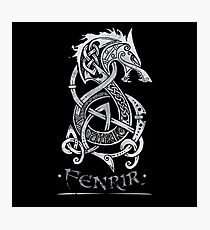Fenrir: The Monster Wolf of Norse Mythology (Gray) Photographic Print