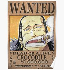 Wanted Crocodile - One Piece Poster
